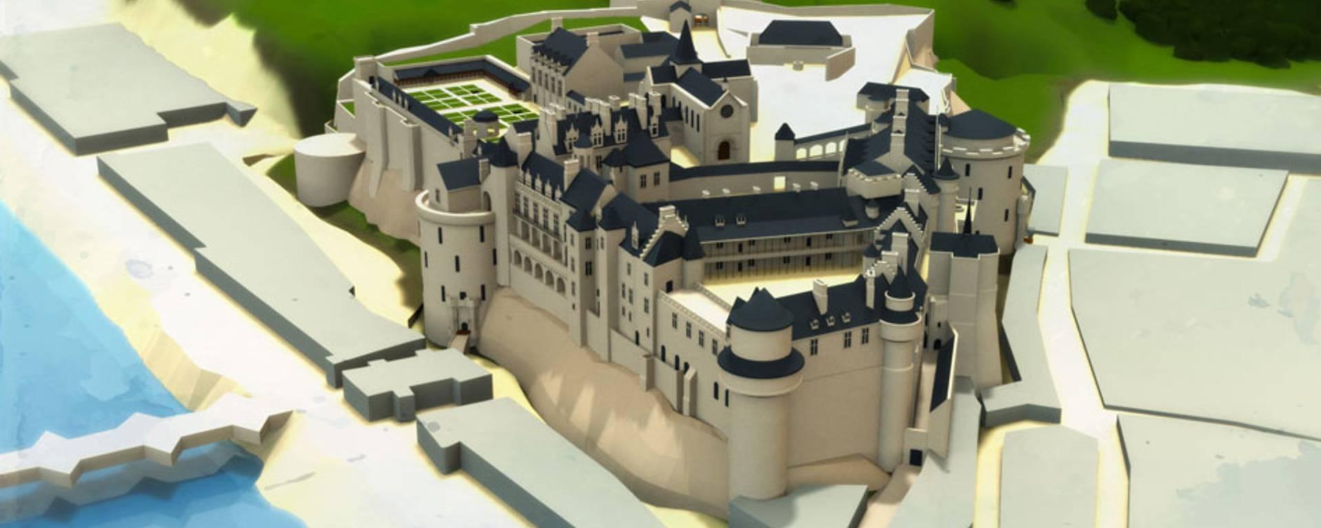 The château at the time of Catherine de Médici