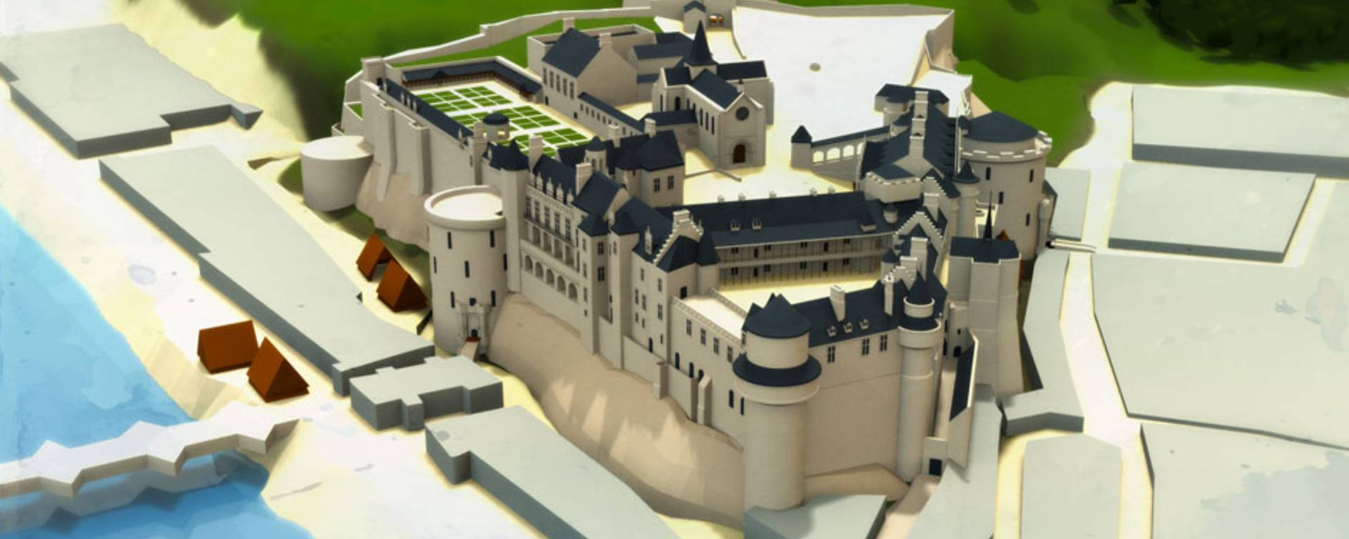 The château at the time of Charles VIII