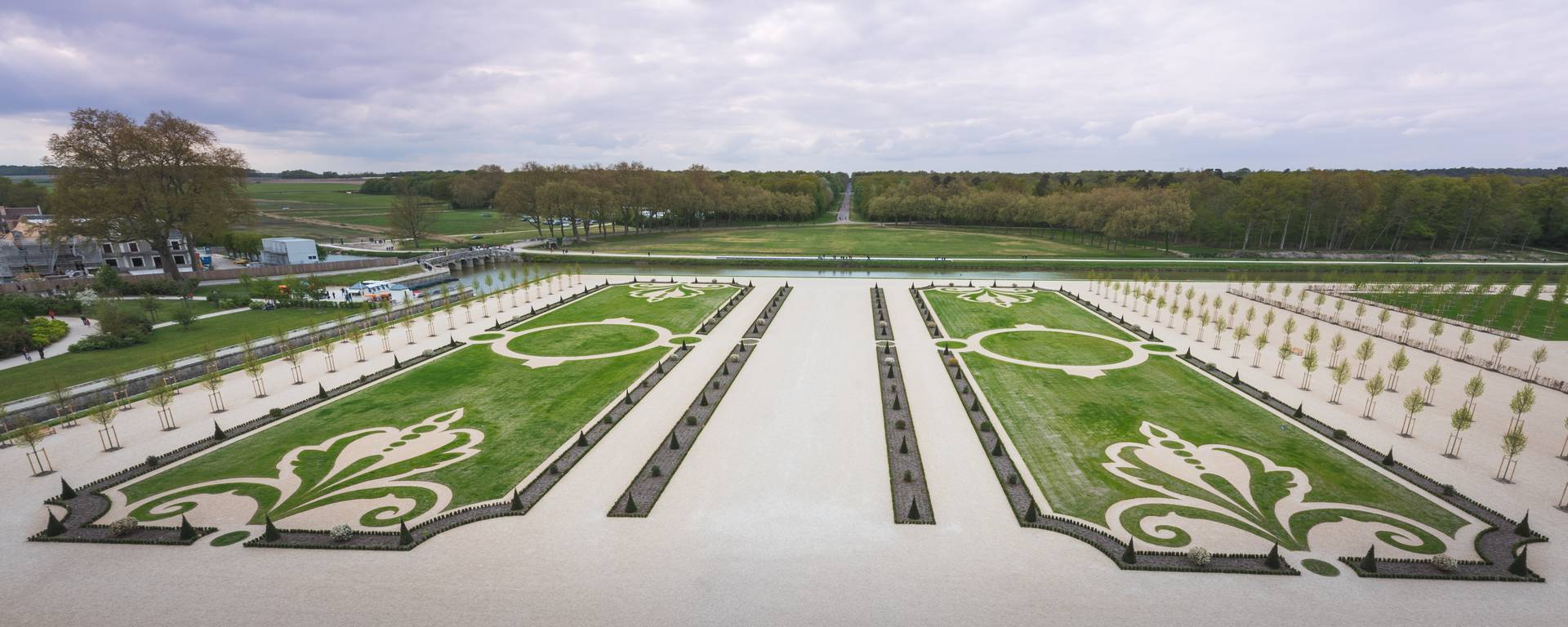 French style gardens at Chambord