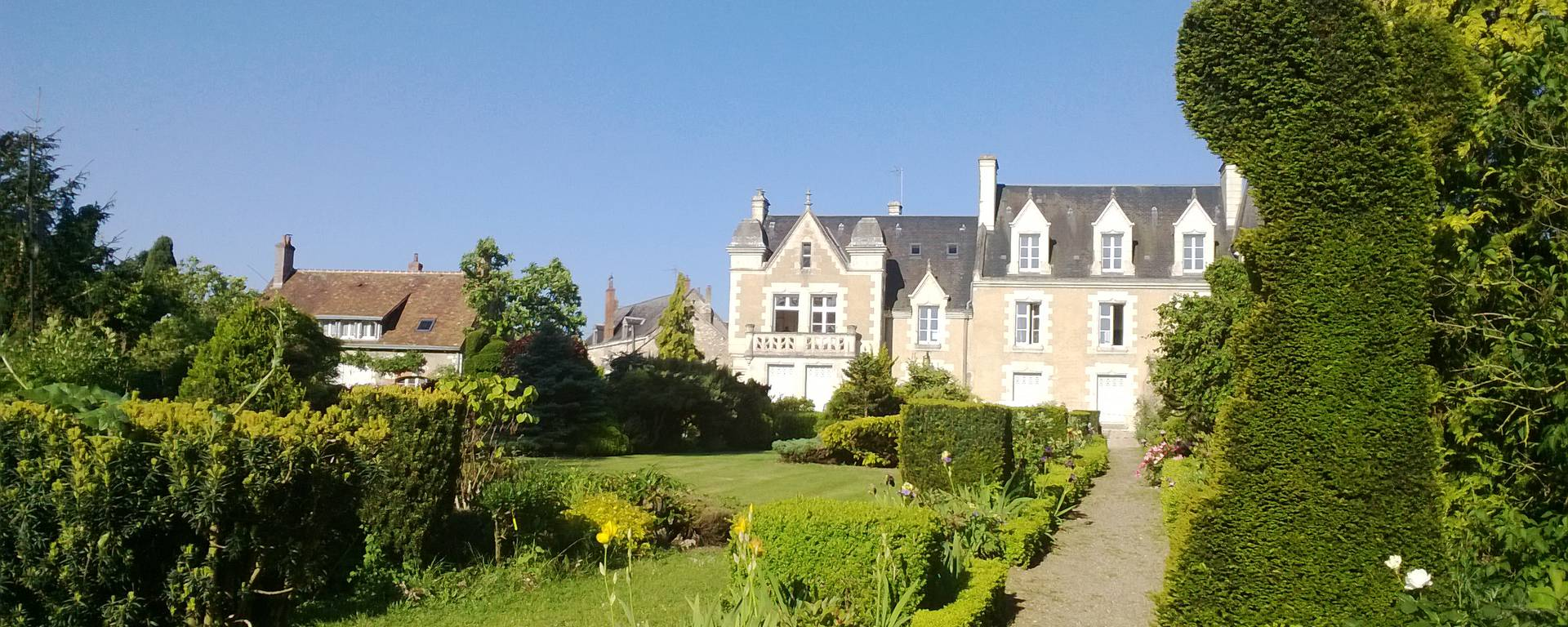 The park of the Orchaise priory near Blois
