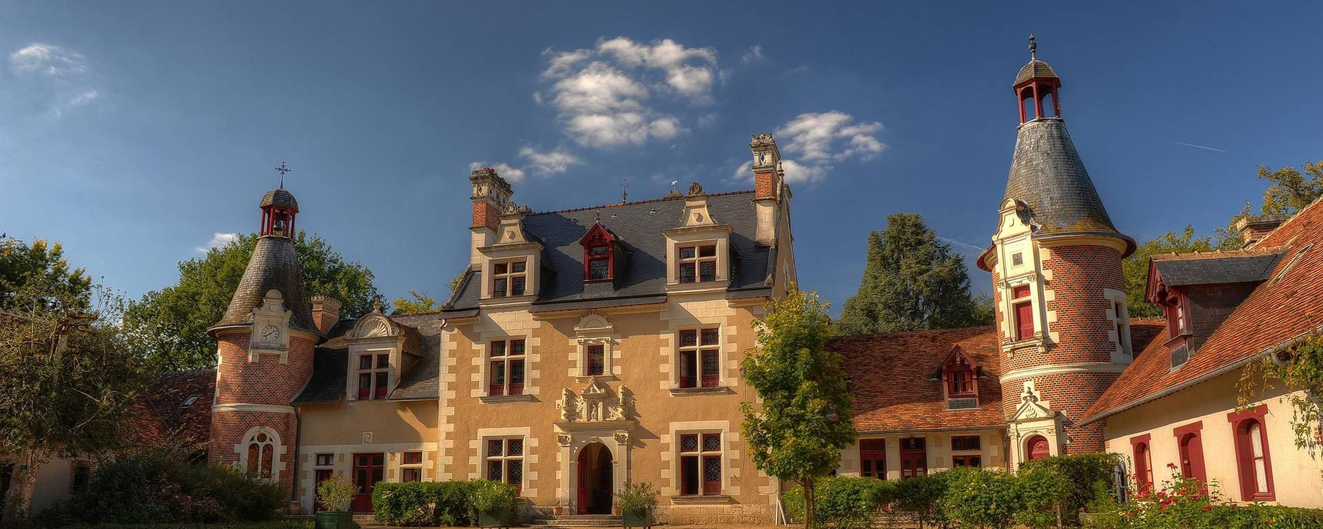 The courtyard of the Château de Troussay