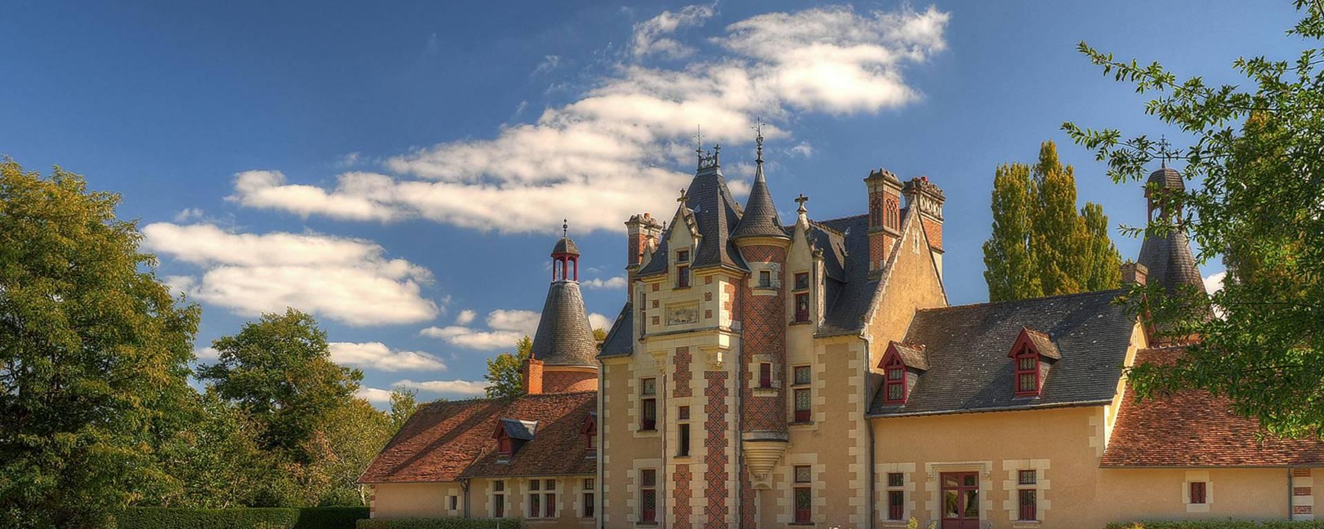 The façade of the Château de Troussay