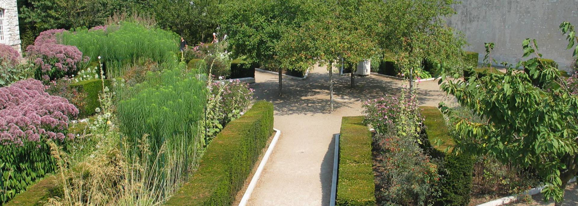 The gardens of the Roy in Blois