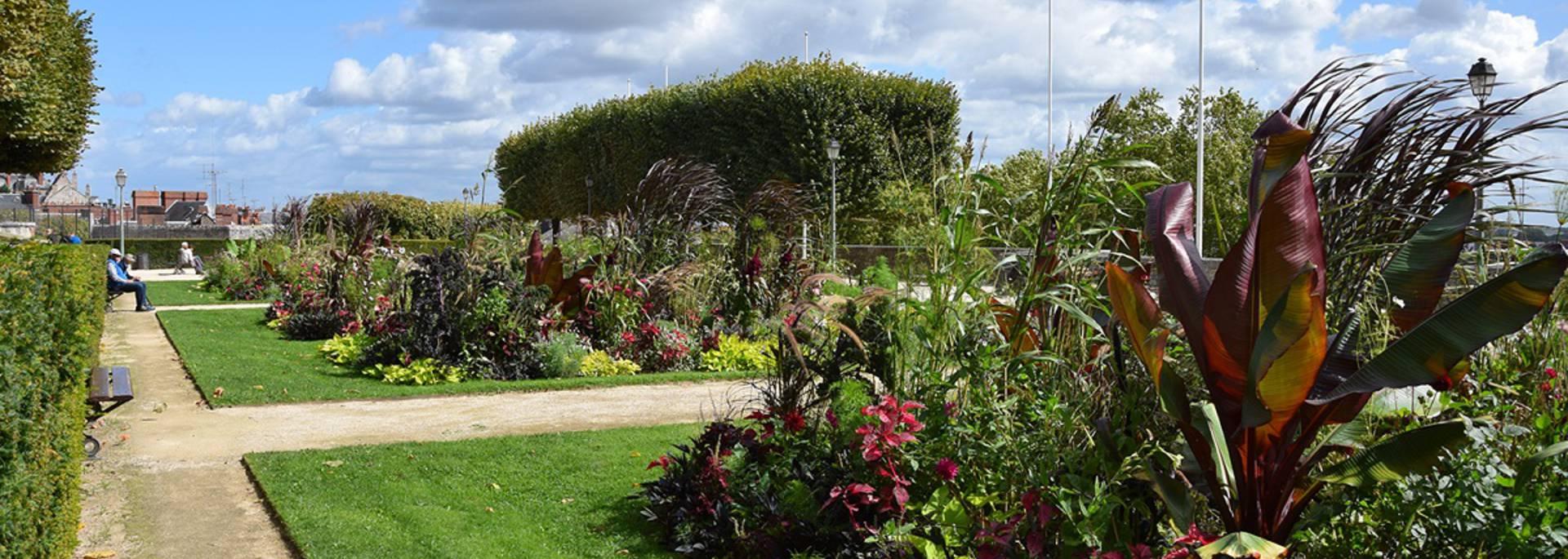 The Saint-Sauveur flowerbeds in Blois