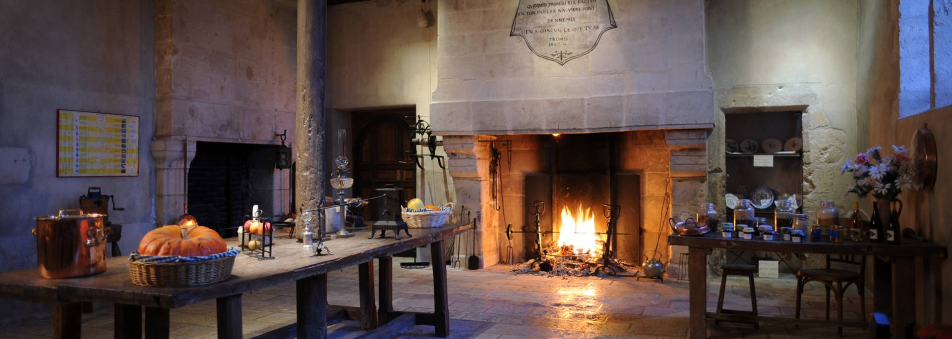 Fireplace in the Château de Beauregard