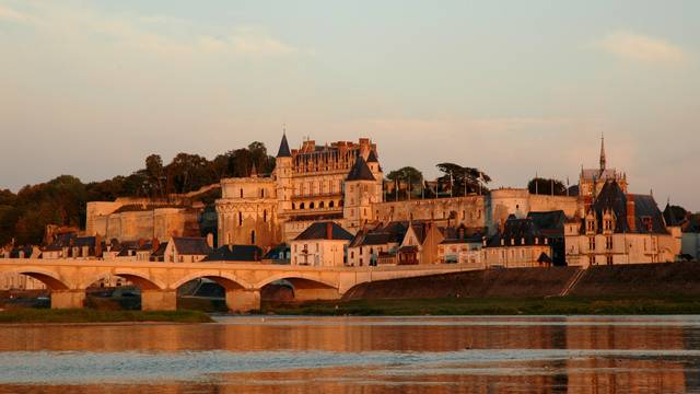 A magnificent view of the royal castle of Amboise.