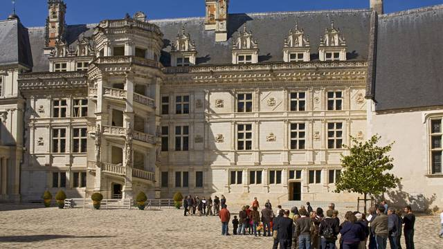 The inner courtyard of Blois Castle
