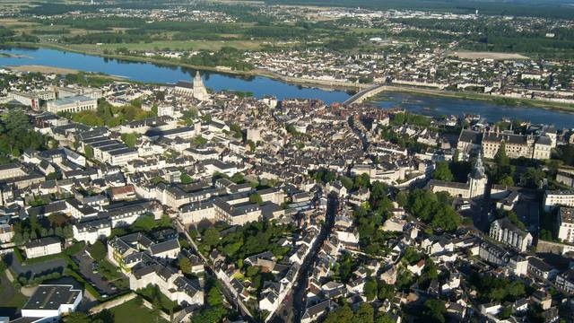 The city of Blois from the sky © BloisChambord