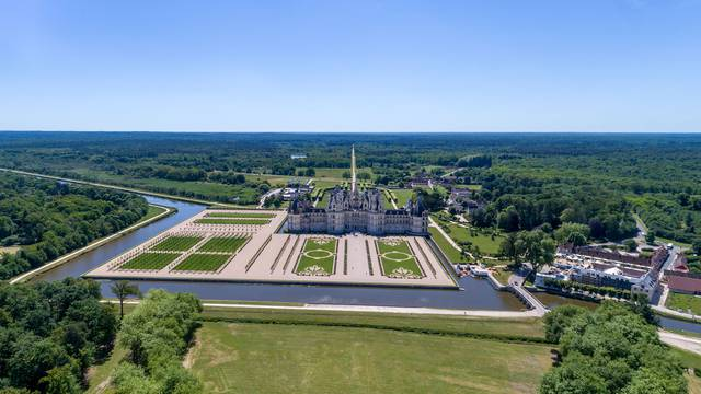 The Chateau of Chambord © Drone-Contrast