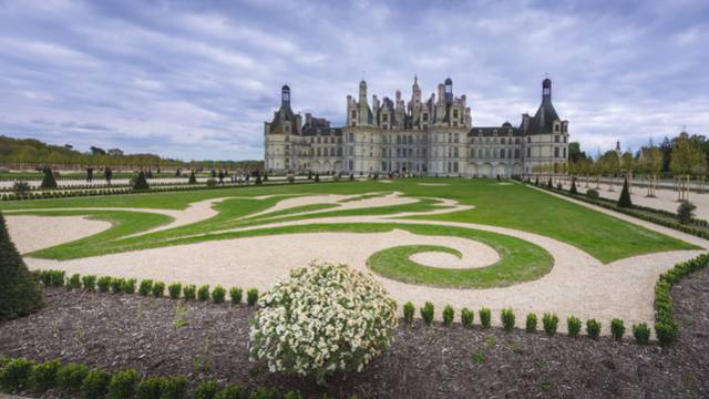 French style gardens at the Château de Chambord