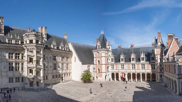 The courtyard of the royal Château de Blois