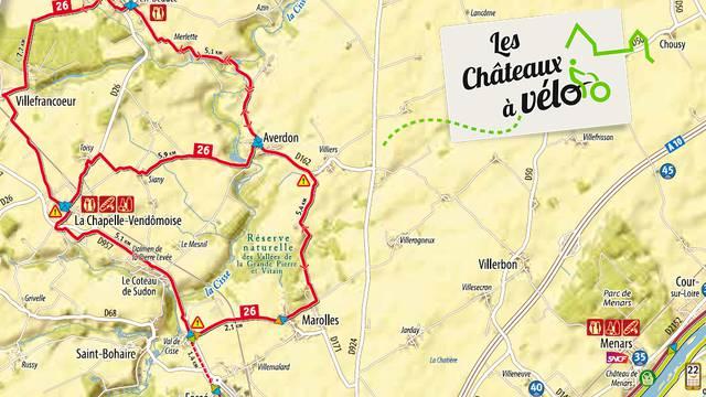Route 26 - The chateaux by bike (Châteaux à vélo)