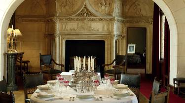 Dining room at the Château de Chaumont-sur-Loire