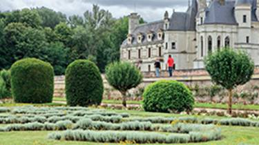 Gardens of the castle of Chenonceau