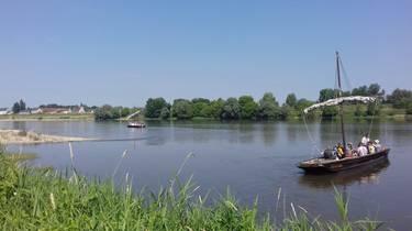 Boat trip on Loire river
