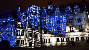 Sound and lights in the Royal castle of Blois