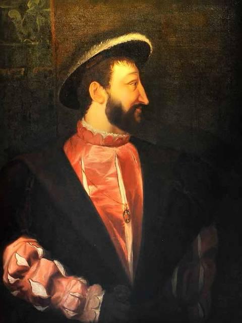 Portrait of François I by Pierre Dupuis.