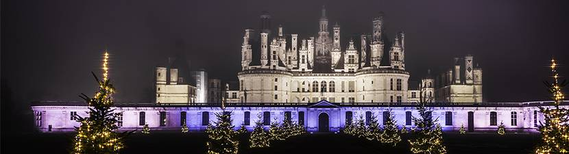Christmas lights in Chambord