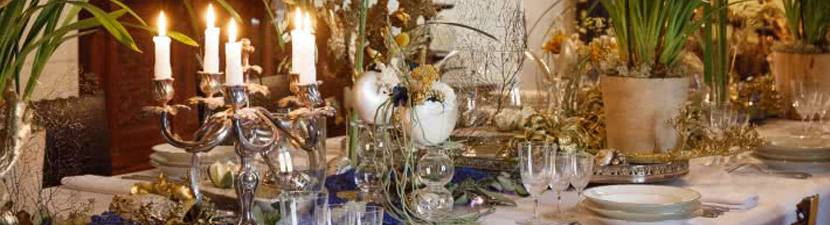 Festive table at the castle
