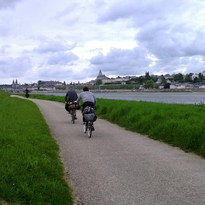 "The ""Loire à Vélo"" in Blois"