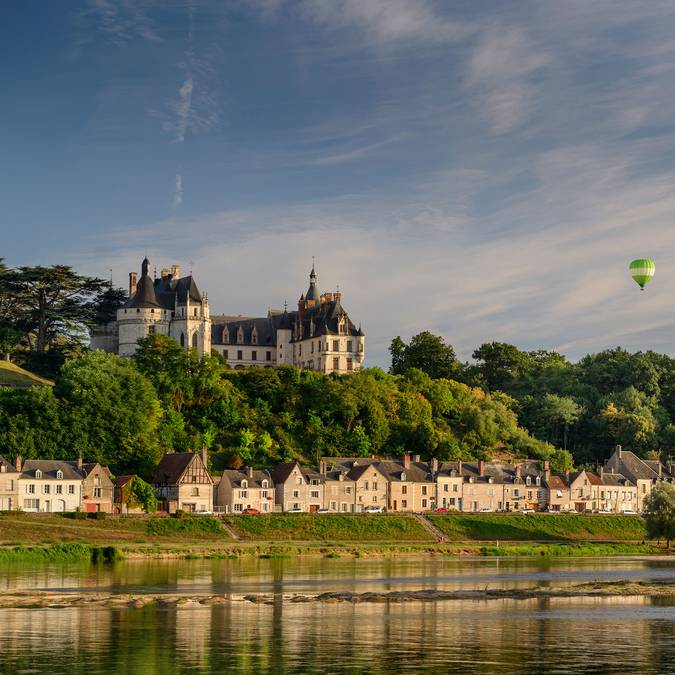 The Château de Chaumont-sur-Loire seen from the Loire