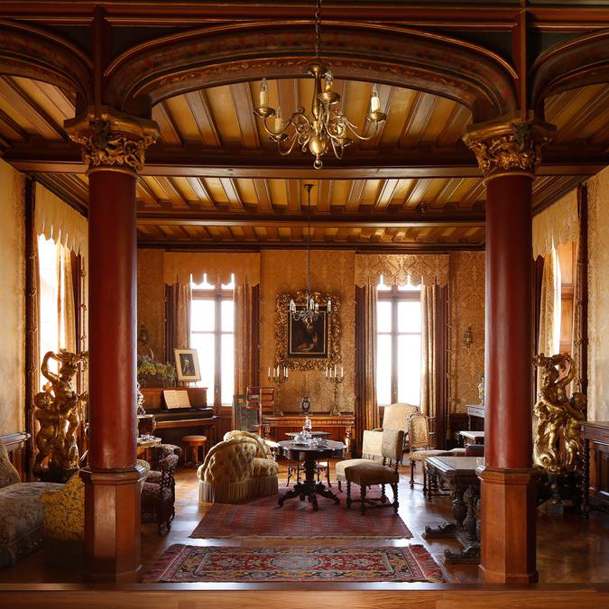 The living-rooms of the Château de Chaumont-sur-Loire