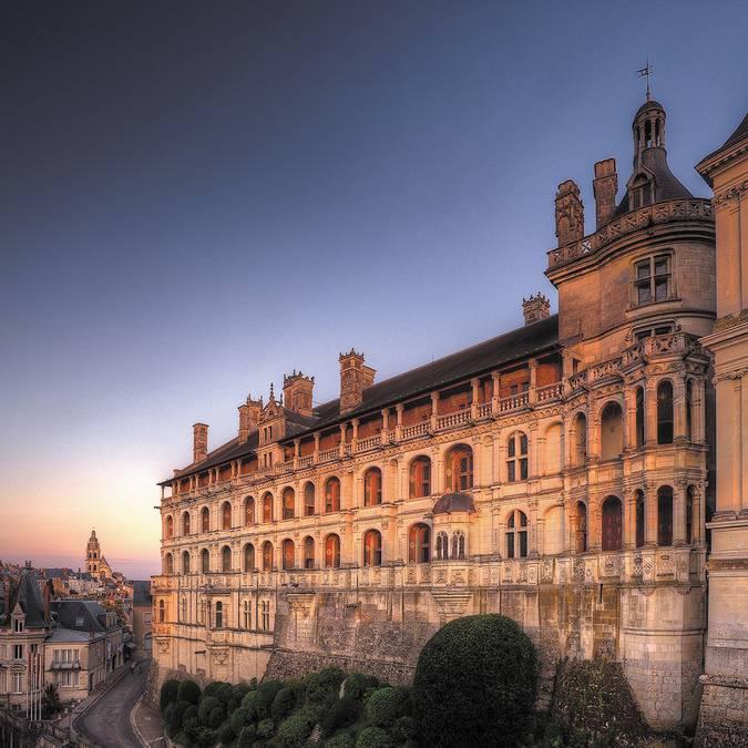 Façade and balconies of the Royal Château de Blois