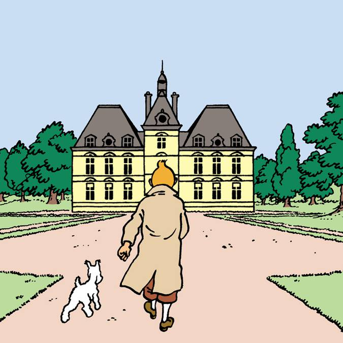 Hergé was inspired by Cheverny to draw Marlinspike. © Hergé