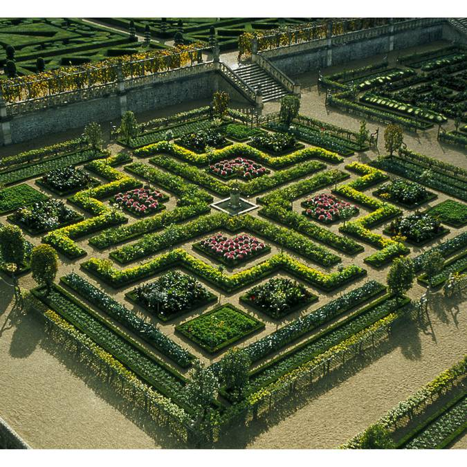 The gardens of the Château de Villandry. © Blois-Chambord Tourist Office
