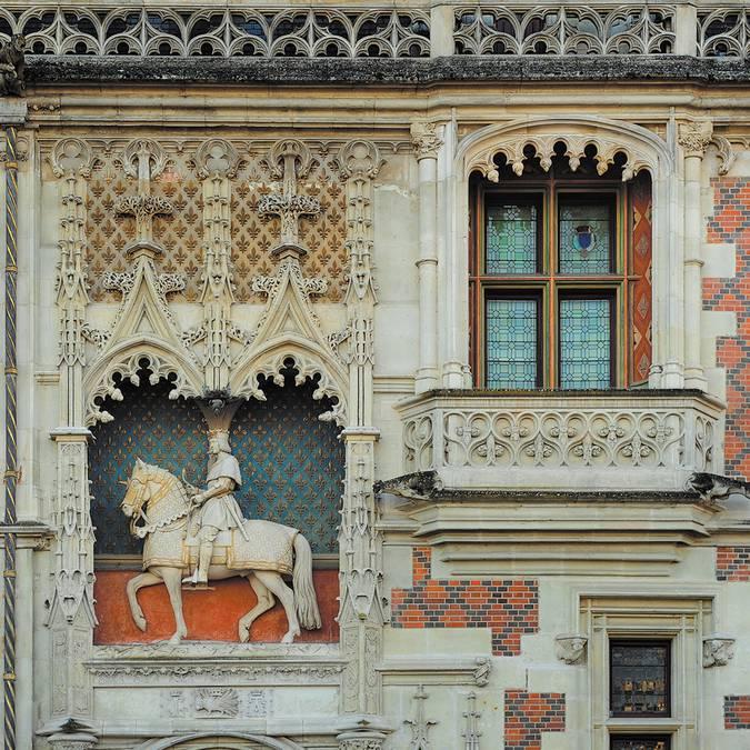 Equestrian statue of Louis XII, Château de Blois