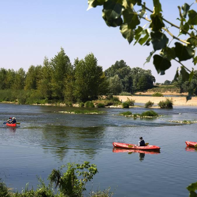 Canoeing on the Loire at Saint-Dyé.