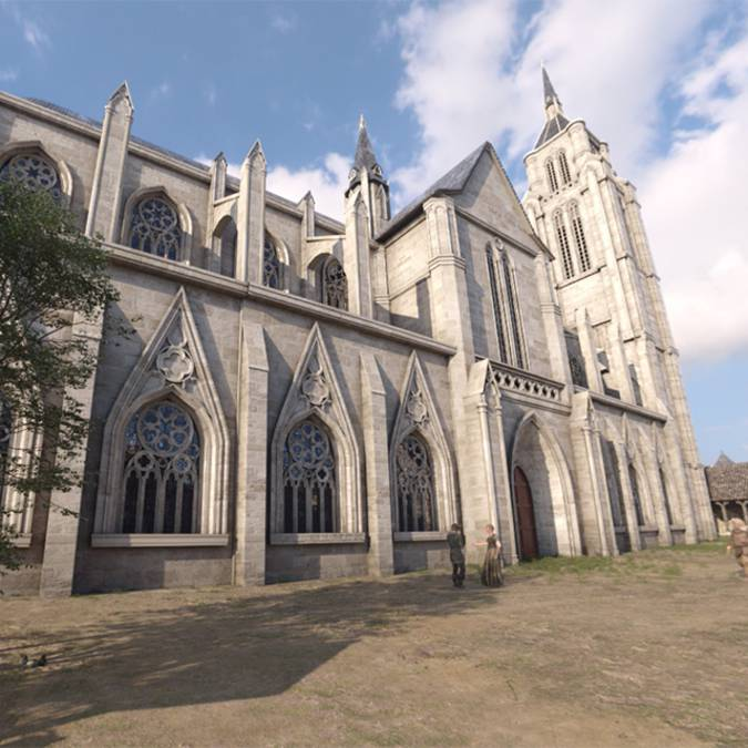 Church of St Sauveur in 1429
