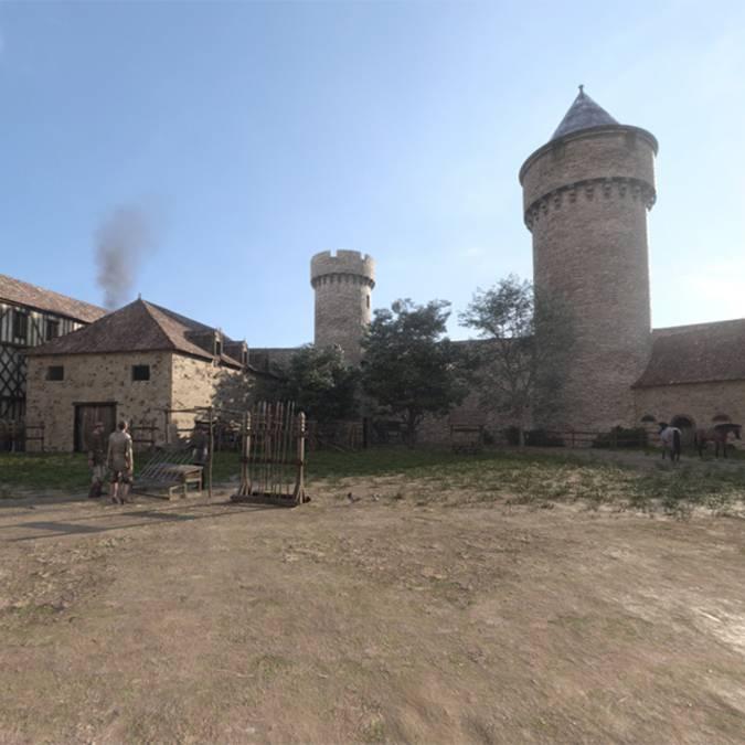 Place du château in 1459