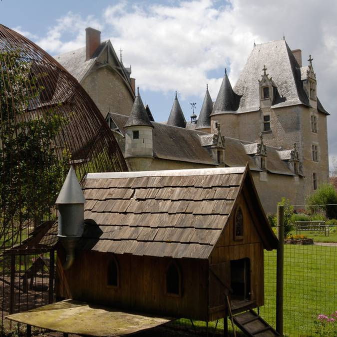 The chicken house at the Château de Fougères-sur-Bièvre