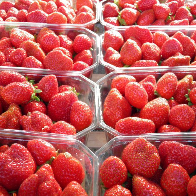 Strawberries in the markets of Blois © Blois Chambord Tourist Office